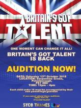 Have you got a talent that needs to be shared? Peterborough is holding auditions for BRITAIN'S GOT TALENT. -Saturday 13th October...
