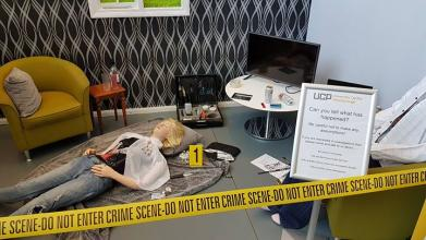 Can you tell what happened? Interested in Criminology, Public Services or Crime and Investigative Studies then come and see us today.