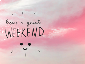 Happy Saturday! We've got a busy week next week so our plan is to RELAX. See you all on Monday!