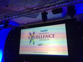 Getting ready for tonight. We can't wait! 🎉 #PeterboroughBusinessAwards #HelloFuture https://t.co/TaM5ZOinDB