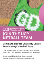 UCP NEEDS YOU. If you would like to get involved email: nathan.thompson@peterborough.ac.uk