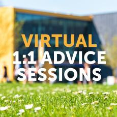 Free virtual 1:1 advice sessions for students and parents